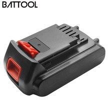 Bateria recarregável de íon de lítio, reposição para bateria preta e decorativa lb20 lbx20 lbx20 lbxr20, 18v/20v/3000mah ferramentas de bateria