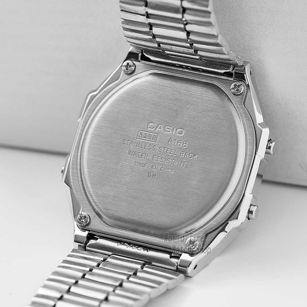 Casio นาฬิกาผู้ชายนาฬิกาทองยอดนิยมแบรนด์หรู LED ดิจิตอลกันน้ำควอตซ์ผู้ชายนาฬิกากีฬาทหารนาฬิกาข้อมือ Часы мужские relogio masculino reloj hombre erkek kol saati montre homme zegarek meski A168WG-9
