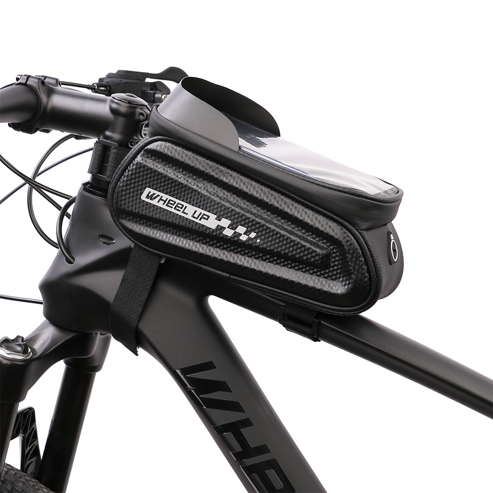 Dropship Cycling Zipper Top Tube Phone Case Touchscreen MTB Bike Hard Shell Bags for Outdoor Caring Personal Bicycle Supply