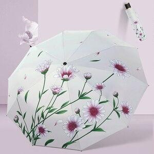 Flower Folding Umbrella Female