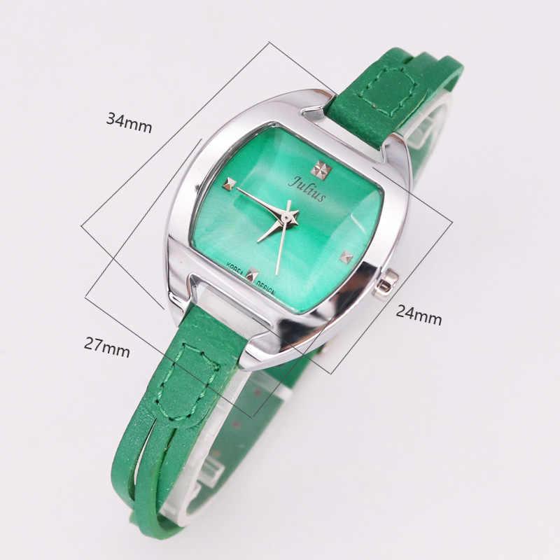 Распродажа! Женские часы Julius Old Types со скидкой, японские часы Mov не модные часы браслет из натуральной кожи подарок на день рождения для девочек без коробки