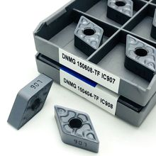 10 pçs dnmg150608 dnmg150408 tf ic907 ic908 ferramenta de torneamento de metal externo iscar cnc torneamento ferramentas torno ferramenta de corte dnmg 150608