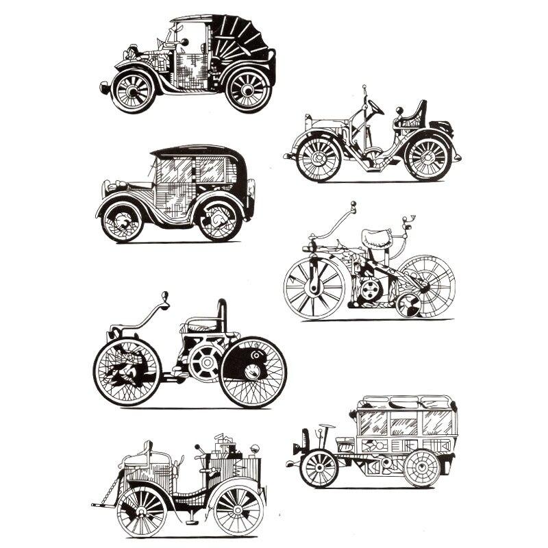 Nouvelles Vintage voiture antiquités voiture Scrapbook bricolage photo cartes compte tampon en caoutchouc tampon transparent timbre à la main carte timbre