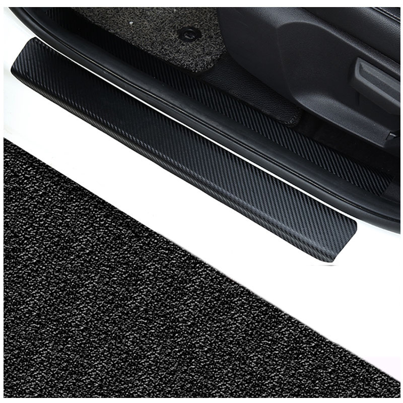 4pcs//Set Carbon Fiber Door Sill Protector Plate Scuff Protection Car Sticker for Dodge RAM Charger