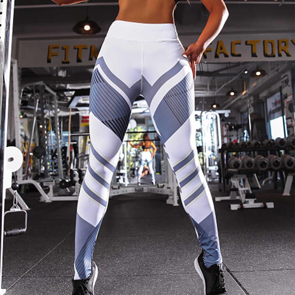 Женские спортивные Леггинсы с высокой талией, штаны для йоги, пуш-ап, одежда для спортзала, Femme, с принтом, компрессионные, для фитнеса, колготки для бега, леггинсы для бега