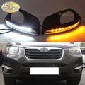 Für Hyundai Santa Fe 2010 2011 2012 Gelb Blinker Funktion Auto DRL Lampe 12V LED Tagfahrlicht fahren Licht