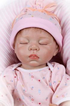 цена на 21'' Lifelike Reborn Silicone Baby Doll Vinyl Doll Sleeping Newborn Girl Boy Toy Silicone Reborn Baby Dolls  Girl Toys For Kids