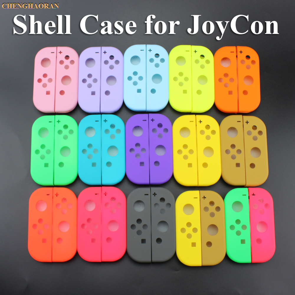 1x Solid 14Colors For Nintend Switch NS Joy Con Replacement Housing Shell Cover For NX JoyCons Controller Case Green Pink Teal