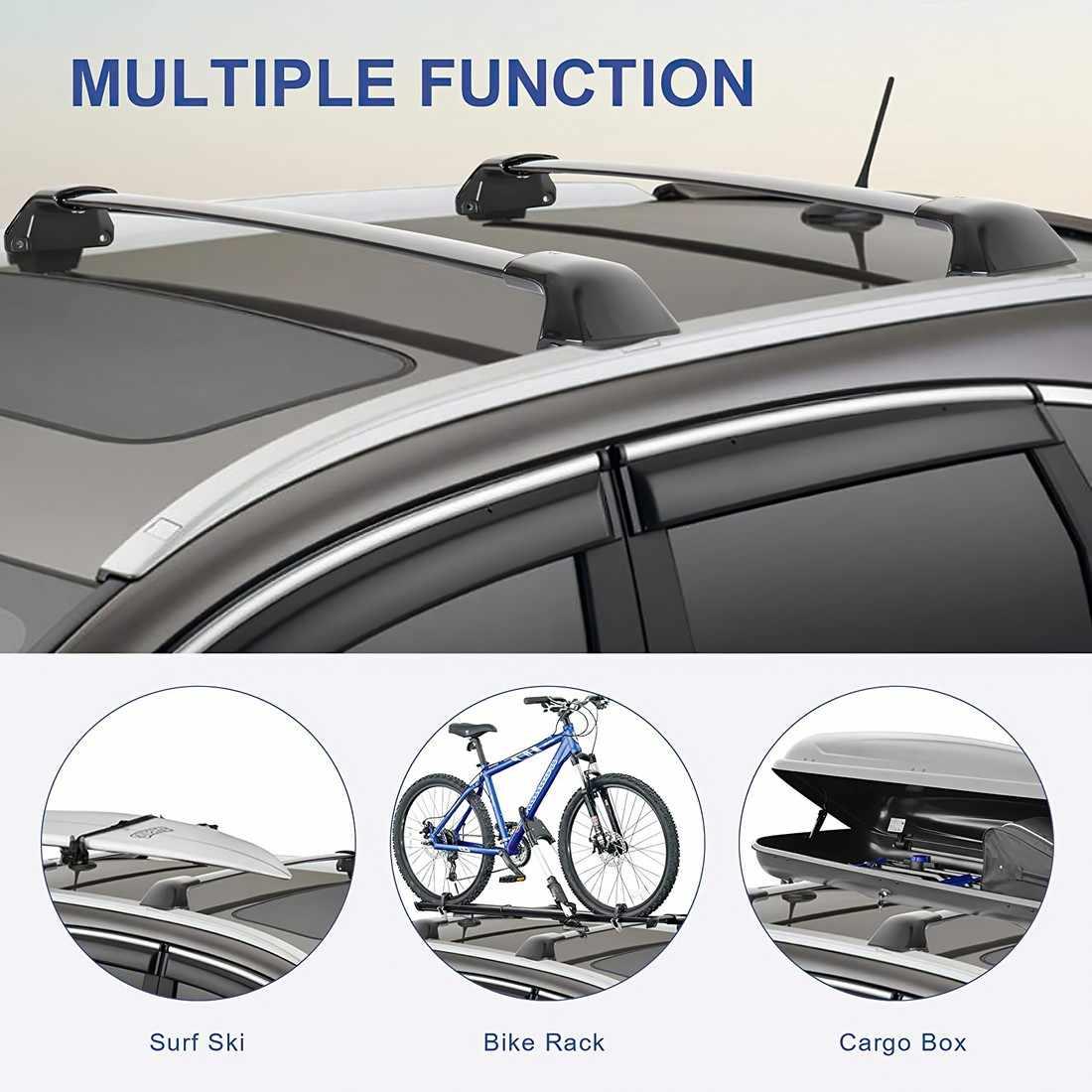 sanjods car roof rack compatible with honda crv cr v 2012 2013 2014 2015 2016 rm pair oe style aluminum roof rack top cross bar