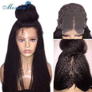 Парик с прямыми париками, парики из человеческих волос для женщин, предварительно выщипанные 180 парики Remy на сетке спереди 30 дюймов, парики ...
