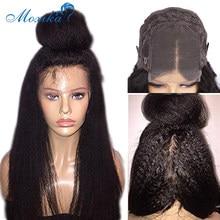 Peruca reta kinky fechamento peruca perucas de cabelo humano para as mulheres preplucked 5x5 13x6 frente do laço 30 Polegada peruca 4x4 perucas do laço do cabelo humano