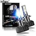 Infitary H4 H7 светодиодные лампы для передних фар 16000Lm 6500 к зэс чипы автоматического Ламповые ленты для автомобилей H1 H3 H11 H13 H27 9005 HB3 HB4 противотума...