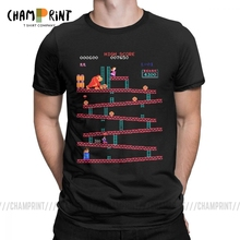 Donkey Kong T-Shirts Men Arcade Game Collage Vintage Pure Co