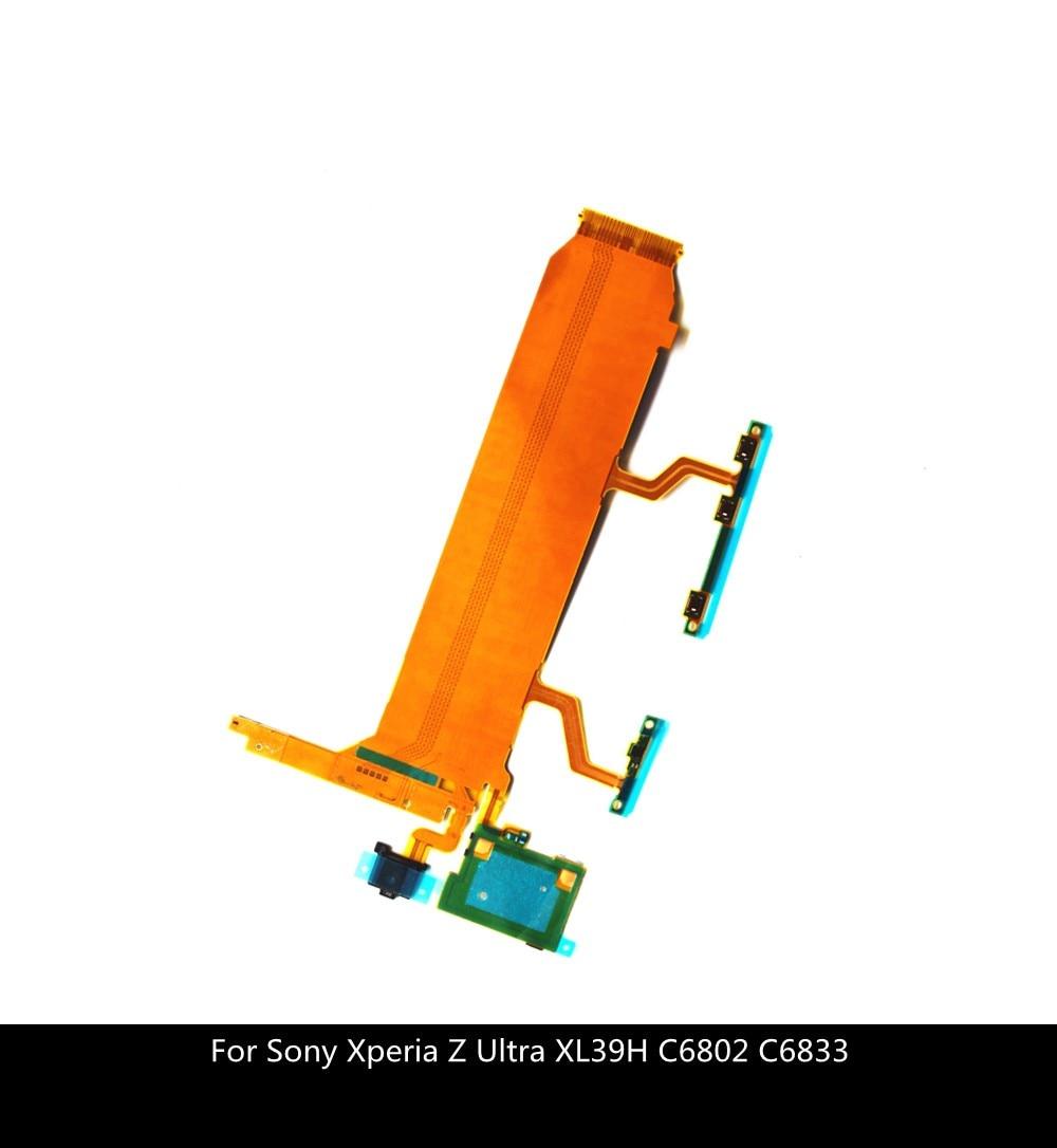 232.2руб. |Шлейф для подключения основной платы ЖК дисплея для Sony Xperia Z Ultra XL39H C6802 C6833 кнопка включения громкости Боковая кнопка Mic гибкий кабель|Гибкие кабели для мобильных телефонов| |  - AliExpress