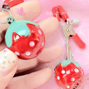 Image 4 - Handmade 1 Pair Adjustable Strawberry Nipple Clamps Clit Clamp Adult games Sex Toys for Couples Fetish Breast Labia Clips