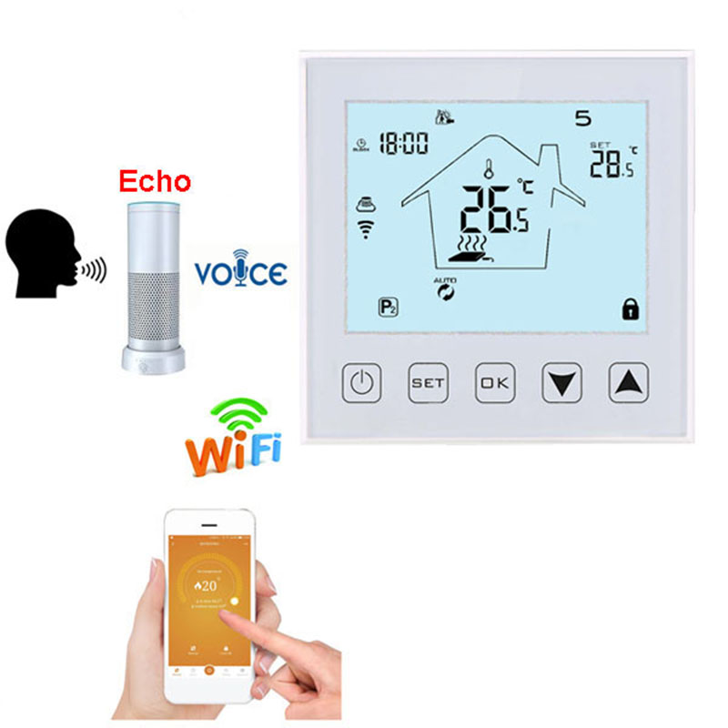 Wifi Thermostat Electric Floor Heating Temperature Controller Mobile Remote Control NTC Sensor Voice Control Google Home