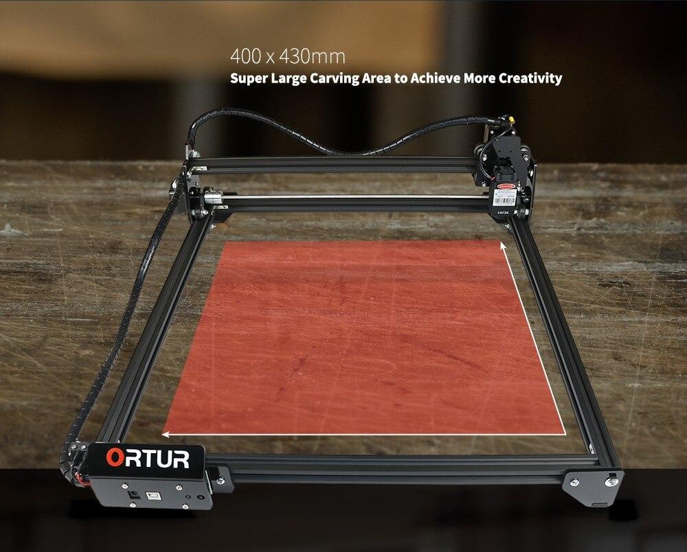 ORTUR Laser Master 2 Laser Engraving Cutting Machine With 32-bit Motherboard - Black 15W (US Plug)