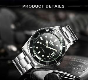 Image 3 - זוכה הרשמי הקלאסי אוטומטי שעון מכאני עסקי גברים שעונים למעלה מותג יוקרה פלדת רצועת לוח שנה שעוני יד חמה