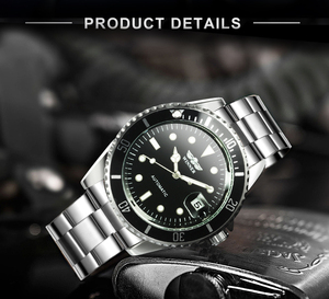 Image 3 - WINNER Official Classic Automatic Watch Men Business Mechanical Watches Top Brand Luxury Steel Strap Calendar Wristwatches hot