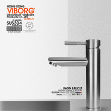 Tap-Faucet VIBORG Sink-Mixer Basin Lavatory Bathroom Vanity Stainless-Steel Single-Handle