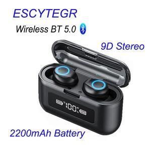 Image 1 - 003 auricolare Bluetooth Wireless TWS auricolari Stereo cuffie con cancellazione del rumore con microfono vivavoce per telefono cellulare
