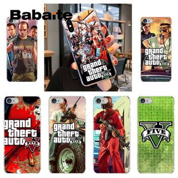 Babaite Gta 5 Grand Theft Auto V Phone Case fundas for iPhone 12 6 6S Plus coque for X XS MAX SE 12 11 pro max cover image