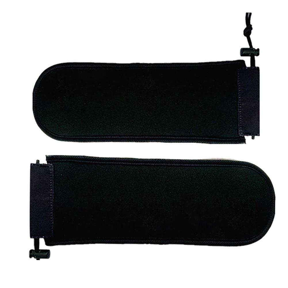 2PCS Outdoor Sports Elastic Drawstring Adjustable Black Snowboard Protectors Soft Ski Practical Space Saving Board Head Foldable