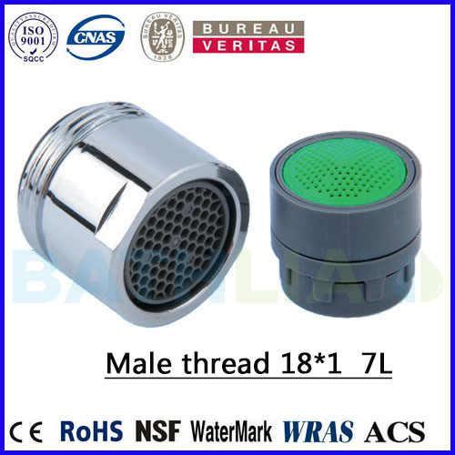 M18 водосберегающий аэраторный смеситель кран подачи редуктор Регулятор Фильтра резьбы папа M18 * 1 6L Кухня кран насадка, аэратор латунь внешняя