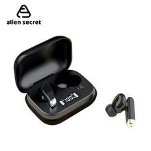 Alien Secr zestaw słuchawkowy Bluetooth telefon bezprzewodowy słuchawki sportowe Mini zestaw słuchawkowy dźwięk radia w ucho IPX5Waterproof tws 5 0 wyświetlacz mocy tanie tanio ALIEN SECRET Zaczep na ucho Dynamiczny CN (pochodzenie) Prawda bezprzewodowe 90dBdB Nonem Dla Telefonu komórkowego Do Gier Wideo