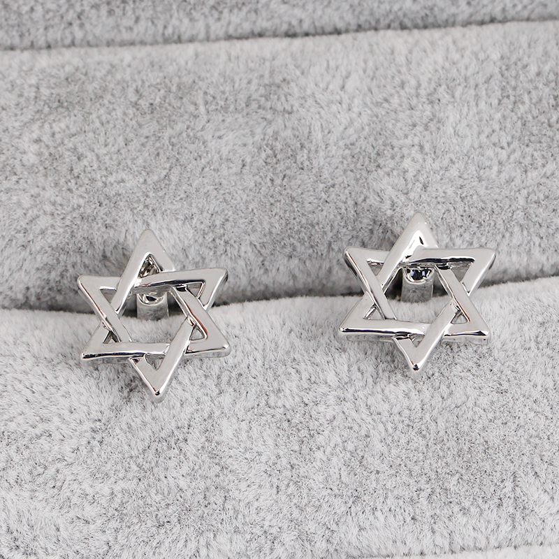 cufflinks mens shirt cufflinks tie clip Star bouton de manchette Silver Color Cuff Links Buttons Business Jewelry in Tie Clips Cufflinks from Jewelry Accessories