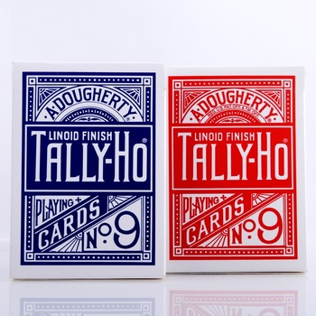 1pcs Original Tally-Ho No.9 Deck Magic Card Fan Or Round Back Playing Cards Poker Stage Magic Tricks for Professional Magician tally ho playing cards magic deck magic tricks cardistry deck