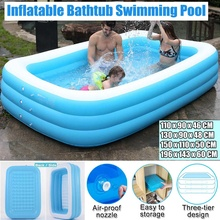 1.1m- 3.05m Large Inflatable Swimming Pool Adults Kids Pool Home Use Outdoor Indoor Swimming Pool Bathing Tub