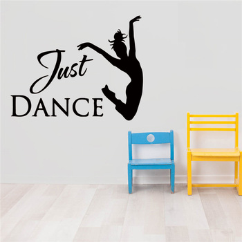 Fun Wall Stickers Dance Sticker Girl Text Vinyl Wall Decal For Kids Rooms Vinyl Girl Dancer Sticker Decor Decals Mural pirate ship and treasure map decal set wall decal custom vinyl art stickers for classrooms kids rooms baby nurseries 3004