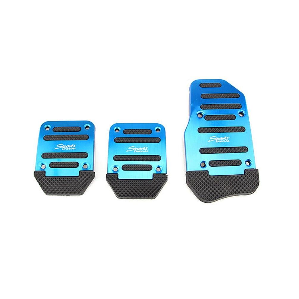 Универсальная алюминиевая механическая коробка передач, автомобильная Нескользящая педаль, ручная Автомобильная Тормозная муфта, акселератор, сплав, противоскользящая ножная педаль - Цвет: Blue