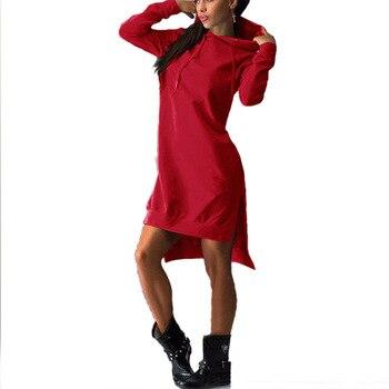 European and American style mid-length hoodie 2020 women's pullover long-sleeved fleece hoodie 12