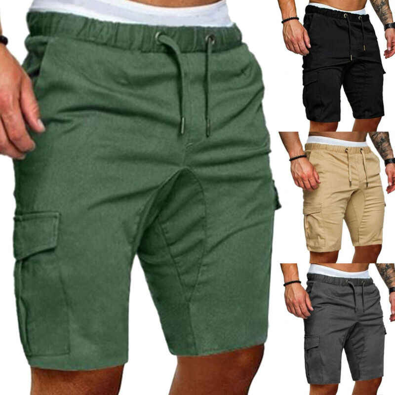 Mannen Cargo Shorts Summer Man Casual Shorts Fitness Kofferbak Gym Running Shorts Hip Hop Streetwear Homme Shorts Plus Size Mannen