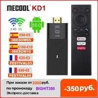Global Mecool KD1 certificado por Google Smart TV Stick Amlogic S905Y2 caja de TV Android 10 2GB 16GB 1080P 4K 2,4G y 5G Wifi BT TV Dongle