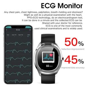 "Image 5 - אק""ג + PPG טמפרטורת צג קצב לב לחץ דם IP68 עמיד למים חכם שעון גשש כושר RUGUM T01 ספורט שעוני יד"