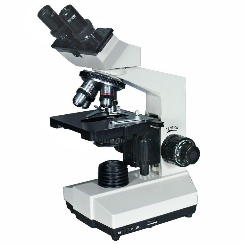 40X 1600X Illuminated Sliding Biological Binocular Microscope Laboratory Microscope with Lamp and Head 360 Rotatable TXS03 03B|Microscopes|Tools - title=