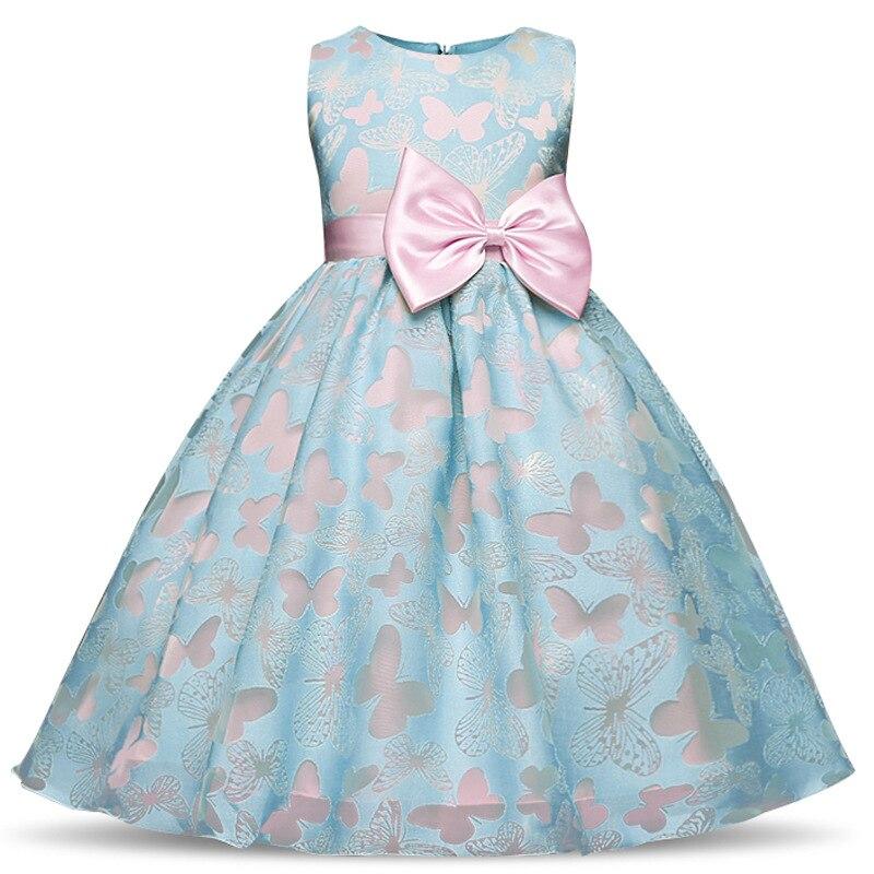 Элегантное платье принцессы с бабочками для девочек, платья для маленьких девочек на день рождения, свадьбу, вечеринку для детей 2, 4, 6, 8, 10 ле...