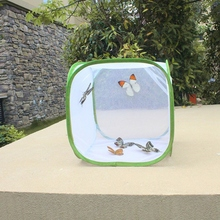 Butterfly Insect Cage Foldable Mini Insect Habitat Net with Zipper Garden Butterfly Breeding Cage House Seedling Net Cloth