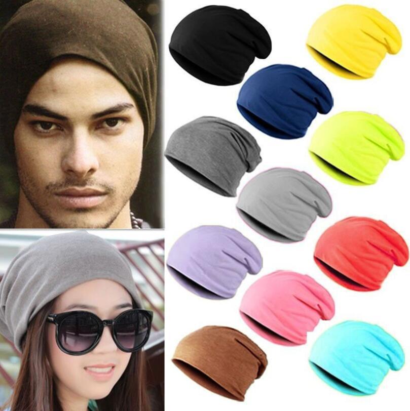 VISNXGI Women Men Unisex Hip Hop Beanie Skullcap Knitted Winter Cap Casual Beanies Solid Color Slouch Skullies Bonnet Beanie Hat