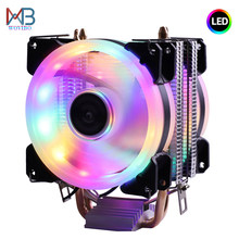 Eficiente de refrigeración enfriador de CPU Ventilador 3pin para Intel LGA 1150, 1151, 1155, 1156, 775, 1200 AMD AM3 AM4 tranquilo Ventilador silencioso del radiador
