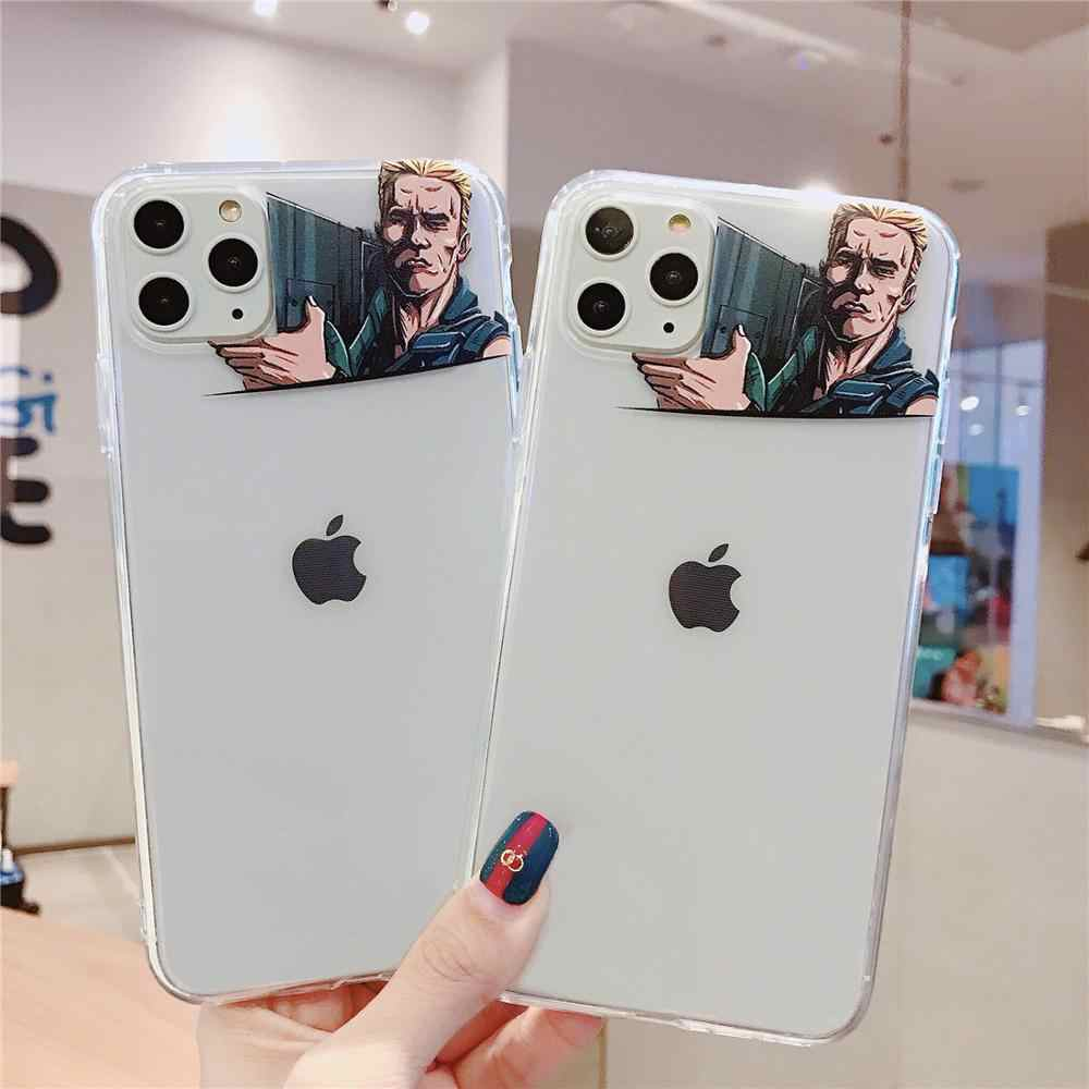 John Fire Gun Grappig Transparant Telefoon Case Voor iPhone X XR XS 11 Pro MAX 10 Soft Clear TPU Back cover Coques Shell Fundas