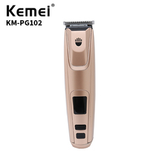 Kemei Hair Clipper Double Layer Alloy Blade LCD Screen Electric USB Charger High Quality 220V KM-PG102