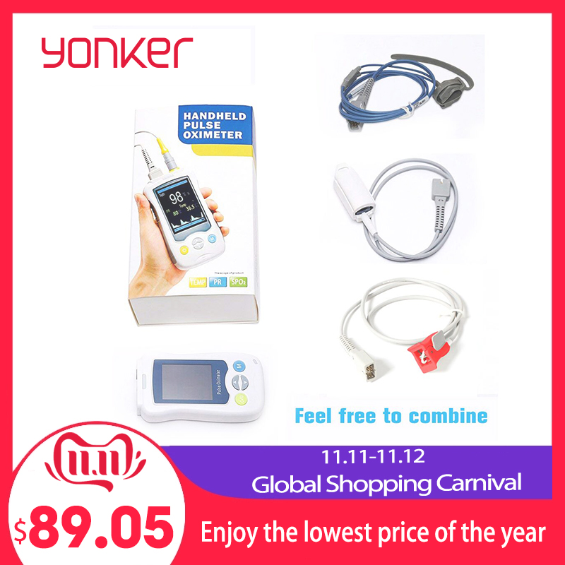 Yonker Medical Fingertip Handheld Pulse Oximeter blood oxygen Heart Rate Monitor Adult Infant Newborn Neonatal Child Baby Kids-in Blood Pressure from Beauty & Health