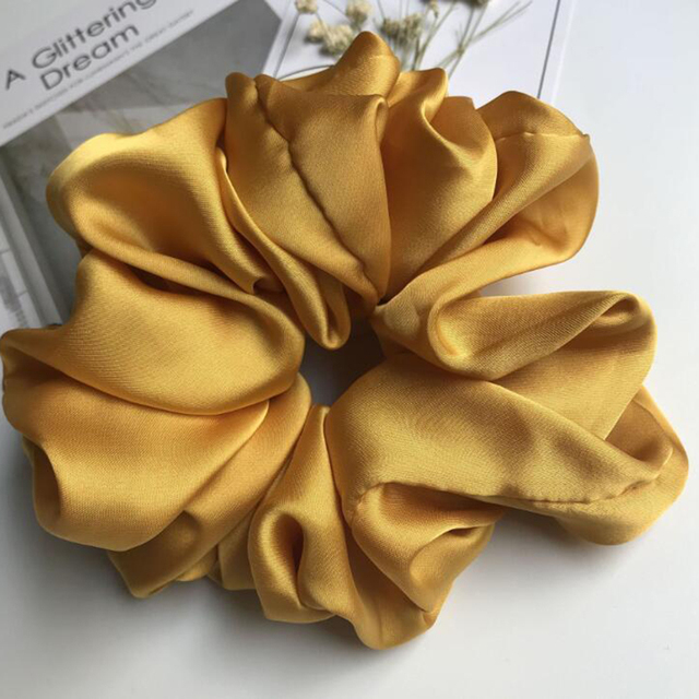 Oversized Scrunchies Big Rubber Hair Ties Elastic Hair Bands Girs Ponytail Holder Smooth Satin Scrunchie Women Hair Accessories 5