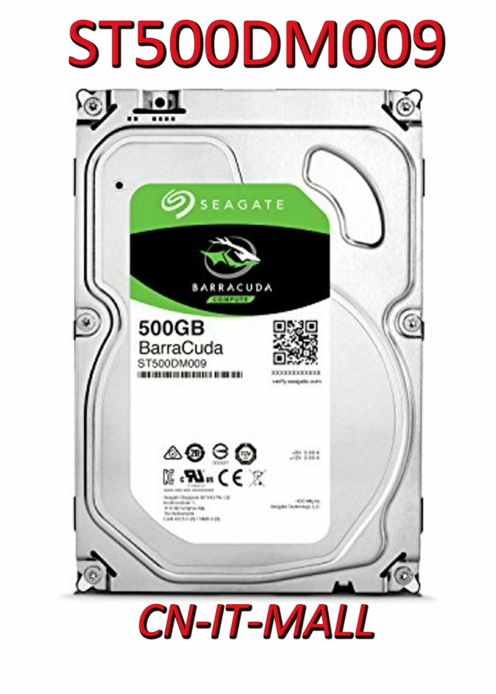 "Seagate BarraCuda ST500DM009 500GB 7200 RPM 32MB Cache SATA 6.0Gb/s 3.5"" Hard Drive"
