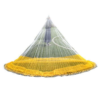 Cast net diameter 5m fishing net nylon fishing network Korea style hand throw net rede pesca outdoor fishing tool fishing gear strong solid ring landing net of head nylon net fishing net fishing network turck net dipneting fishing tool outdoor pesca