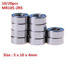 10/20Pcs MR105-2RS 5X10X4 Mm Miniatuur Kogellagers